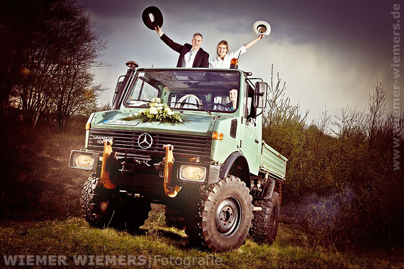 Hochzeitsfotograf Niedersachsen Unimog Grafschaft Bentheim Wiemers